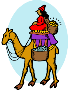 wp clip art camel and needle