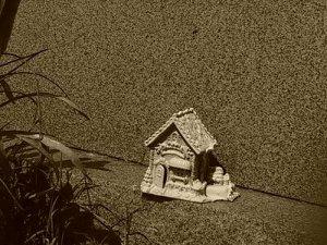 Totem on Gravestone Pine Hill Cemetery; Burlington, NC Copyright Melanie Arrowood Wilcox
